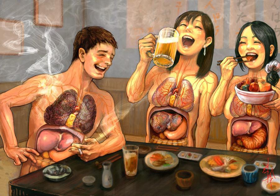 مضرات سیگار و الکل