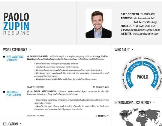 Resume-infographics