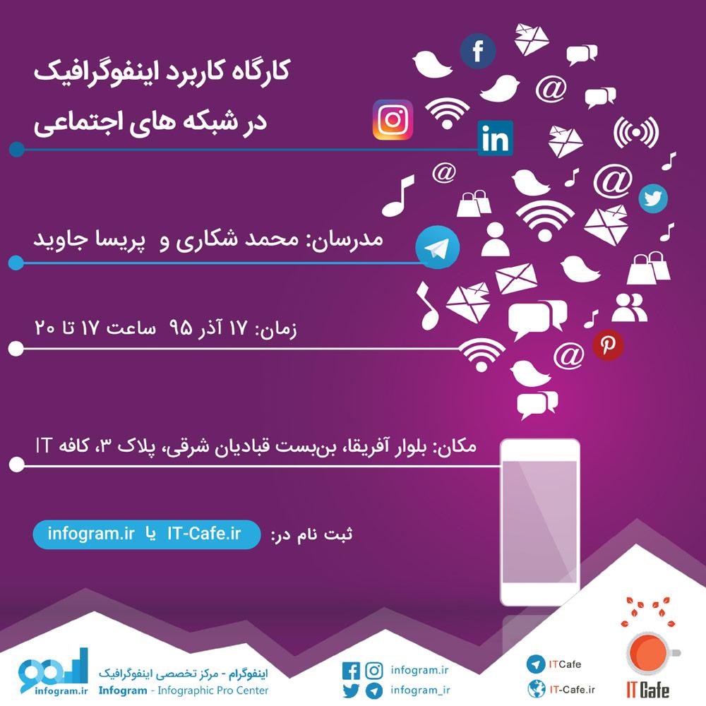 کارگاه کاربرد اینفوگرافیک در شبکه های اجتماعی